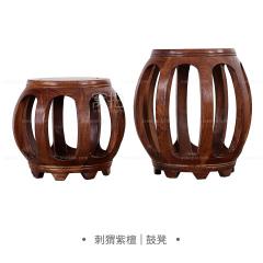 坐具|刺猬紫檀  鼓凳 规格1:33*29*39
