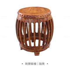 坐具|刺猬紫檀  鼓凳