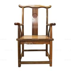 坐具|非洲黄金檀  官帽椅(圆头)
