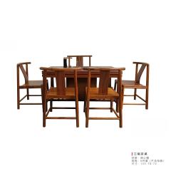 茶桌  |  非洲黄金檀  四方得利茶桌6件套