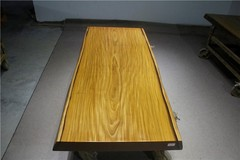 非洲柚木实木大板 自然边 183-78-79-10RH-4626古田工厂