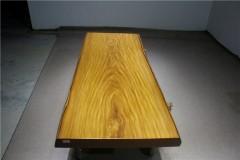 非洲柚木实木大板 自然边 197-85-82-10RH-4617古田工厂