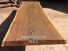 鸡翅木实木大板 自然边 394*104.5*10