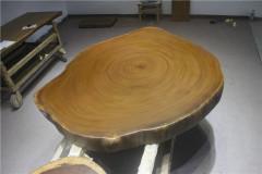 非洲柚木实木大板 圆盘 149-123-11.5RH-4712