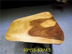 南美胡桃木实木大板 自然边 93*69*4.5(特价)