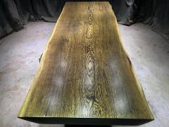 鸡翅木实木大板 自然边 250*85-78*7.7老黑上