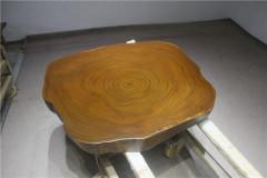 非洲柚木实木大板 圆盘 114-107-10.5RH-4710
