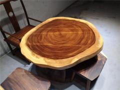 113-100-8胡桃木圆盘圆桌962809