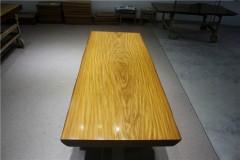 非洲柚木实木大板 自然边 194-73-79-8RH-4628古田工厂