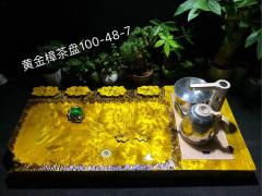 黄金樟 山水 实木茶盘 100-48-7