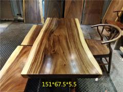 南美胡桃木实木大板 自然边 151*67.5*5.5